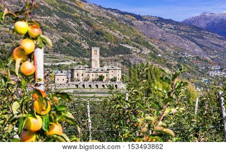 Traditional Italy - castles and gardens of Valle d'Aosta - Sarre royal castle