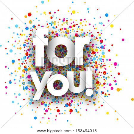 For you paper card with color drops. Vector illustration.