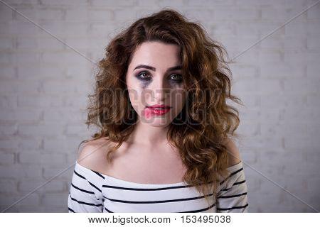Depression - Portrait Of Sad Woman Crying