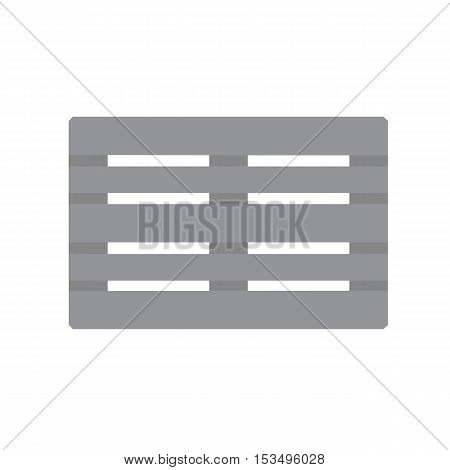 Euro palett icon gray vector flat illustration on white background