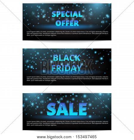 Set of banners Black Friday. Online Marketing. Christmas sale. Super offer.