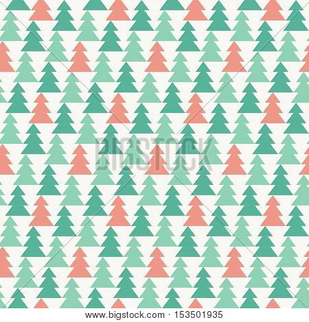 pine forest seamless pattern, suitable for wrapping paper gift, background, greeting card in christmas and new year