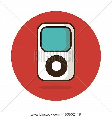 Portable media player icon vector illustration eps 10