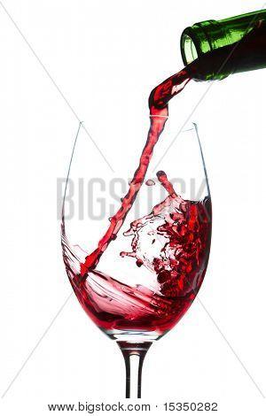 Red wine splashing