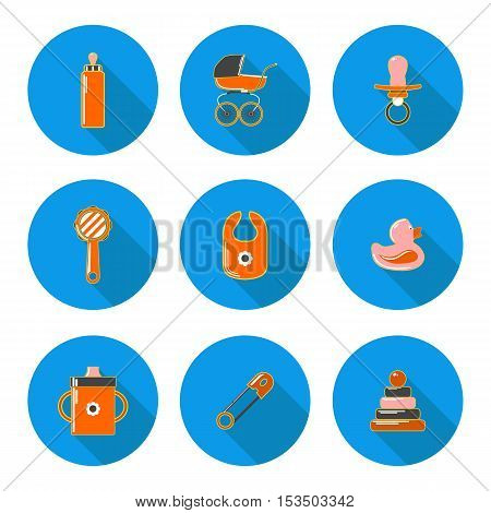 flat icons baby in vector format eps10