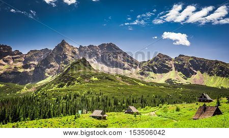 Little Huts In The Tatra Mountains In Poland