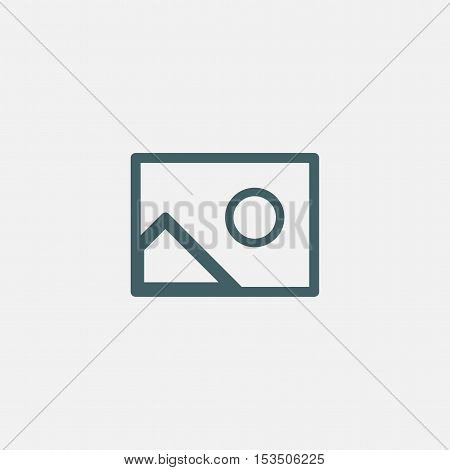 photo vector icon isolated on white background
