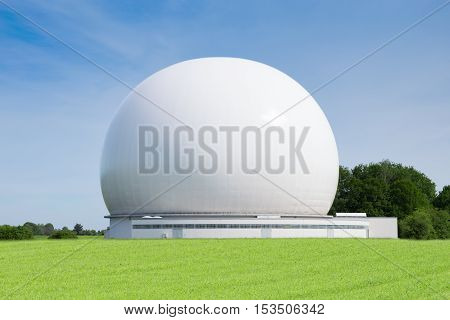 Satellite ground station or earth terminal designed for extraplanetary telecommunication with spacecrafts and reception of radio waves from astronomical radio sources