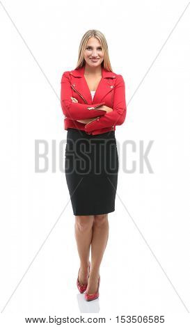 Portrait of businesswoman  isolated on white background