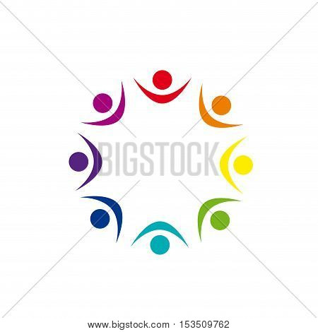Vector logo Solidarity on the world, illustration isolated