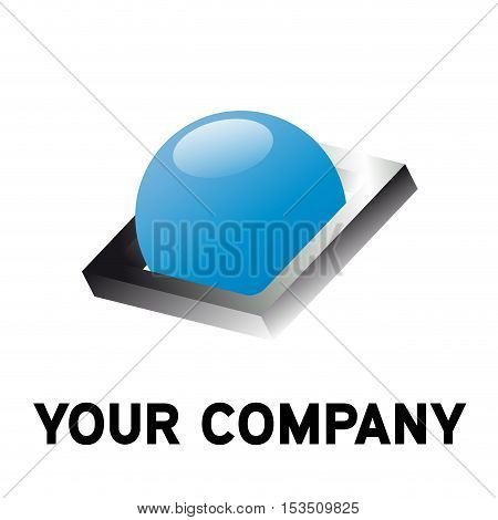 Vector logo concept of conservation, illustration isolated