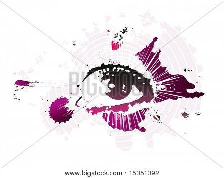 Glamour eye design