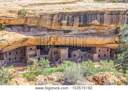 spruce tree house ruin of the anasazi  puebloans at masa verde national park