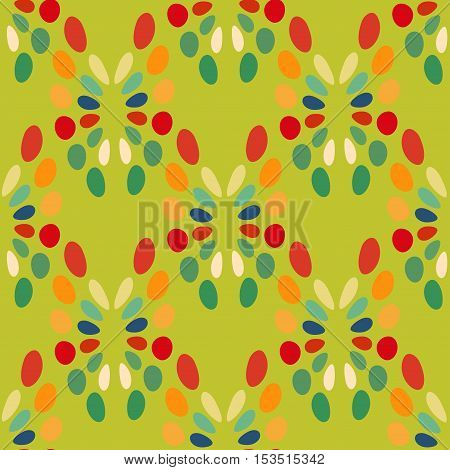 Seamless abstract pattern bright colors green background. Vector illustration Stone background.