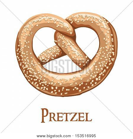 Pretzels. Color vector illustration on a white background