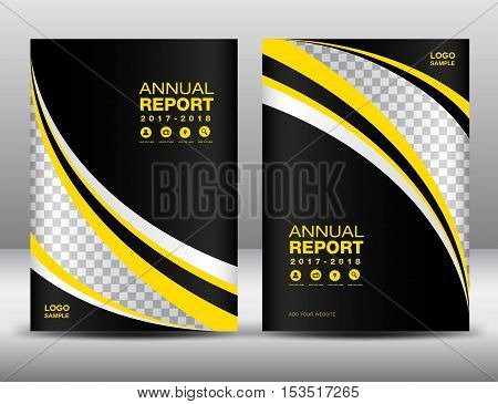 Yellow and black Cover template, cover annual report, cover design, business brochure flyer , magazine covers, book cover, presentation