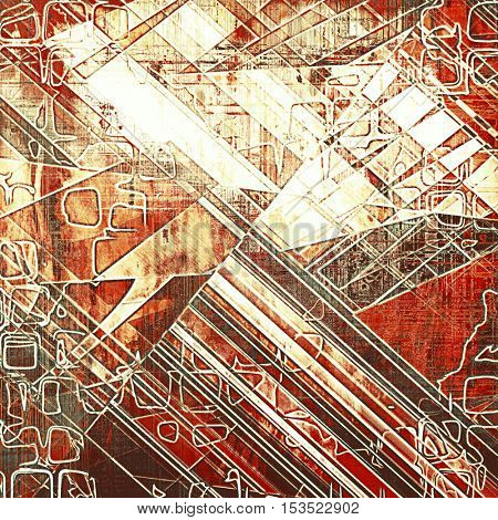 Geometric grunge texture, aged or old style background with retro design elements and different color patterns: yellow (beige); brown; gray; red (orange); pink; white