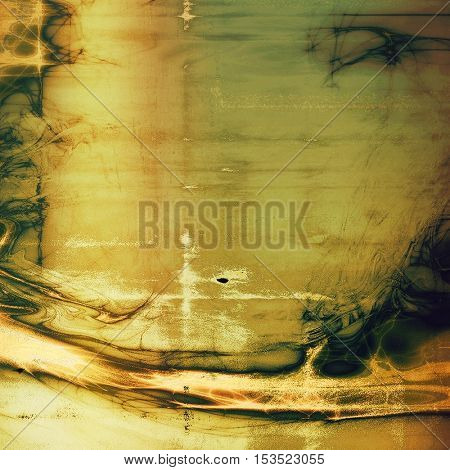 Grunge colorful texture, aged weathered background with different color patterns: yellow (beige); brown; gray; green