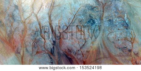 the Enchanted Forest, allegory, Abstract photography of landscapes of deserts of Africa from the air