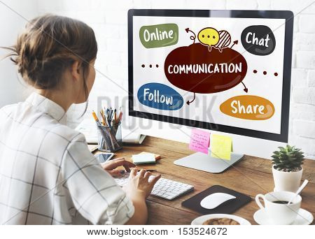 Social Media Word Diagram Concept