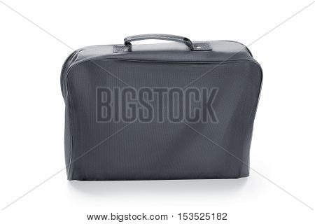 Black portfolio case. Isolated on white with clipping path