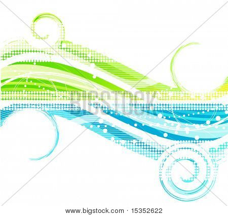 Blue & Green background