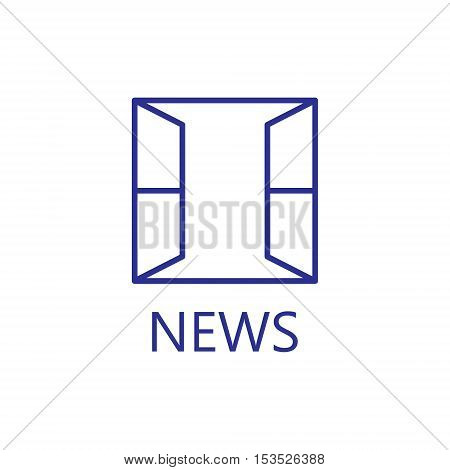 Open window line vector icon. Windowt line icon. High quality outline pictigram for design website or mobile app. Vector thin line illustration of open window.