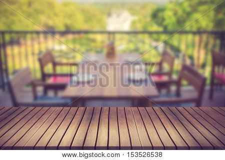 Blurred Background Of Architecture And Garden With Board Can Be Used For Montage Or Display Your Pro