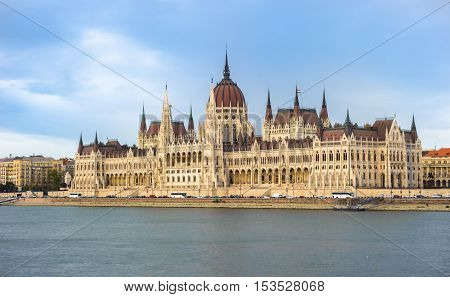 Parliament Building And The Danube River, Budapest, Hungary