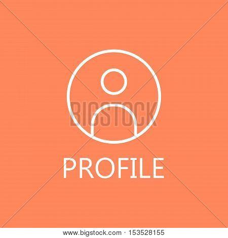 Businessman line icon. Web profile line icon. High quality outline pictigram for design website or mobile app. Vector thin line illustration of profile, man, businessman.