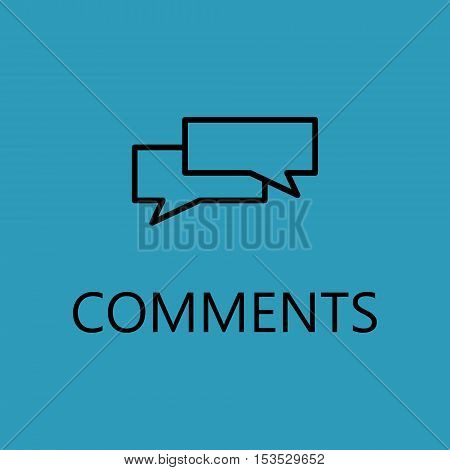 Web talk line icon. High quality outline pictigram for design website or mobile app. Vector thin line illustration of talk, comments.