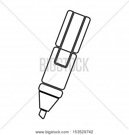 marker highlighter icon image vector illustration design