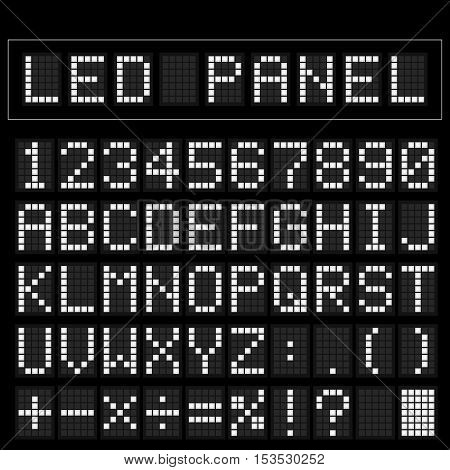 White digital squre led font display with sample panel