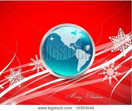 Xmas design with globe