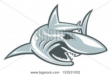 Shark Vector Aggressive Fish Mascot Wildlife Sport Logo