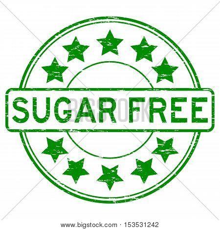 Grunge green sugar free round rubber stamp