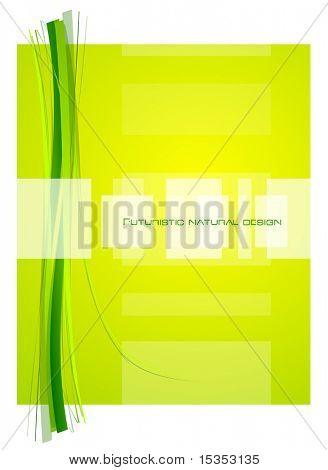 Yellow natural abstract design