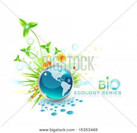 Raster. High detailed natural background. Protect your Earth. Concept