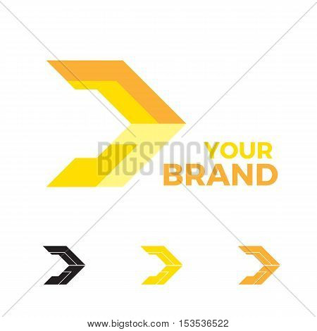 abstract and modern arrow logo business template
