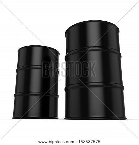 3D Rendering Black Barrels