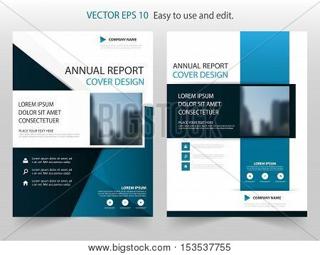 Blue abstract Square annual report Brochure design template vector. Business Flyers infographic magazine poster.Abstract layout template Book Cover presentation portfolio.