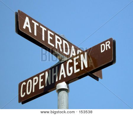 Swedish Street Sign