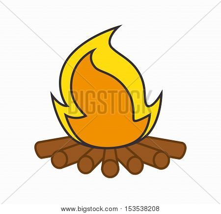 campfire camping isolated icon vector illustration design