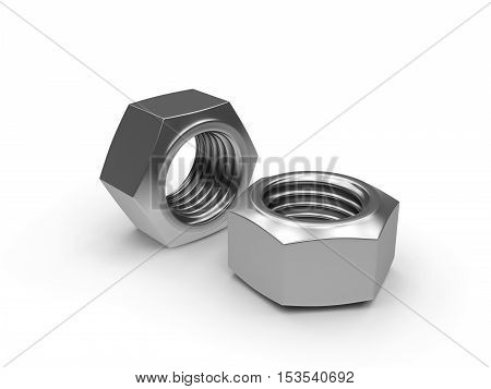 3D visualization of nut on a white background