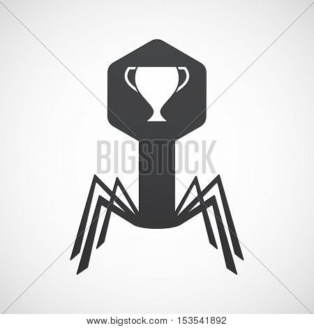 Isolated Virus Icon With  An Award Cup