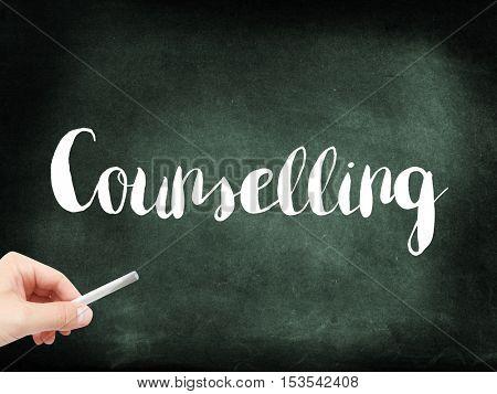 Counselling written on a blackboard