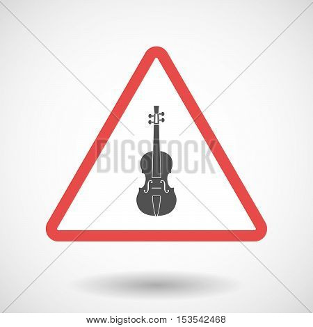 Isolated Warning Sign Icon With  A Violin