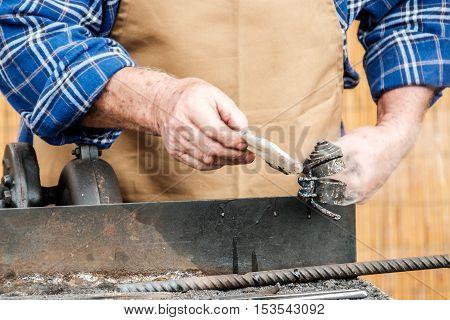 hot iron working handwork old professions handword
