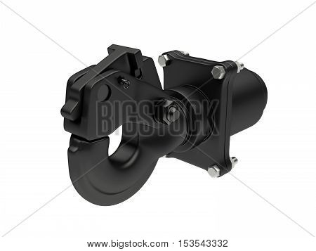 3D visualization of the tow hook on white background