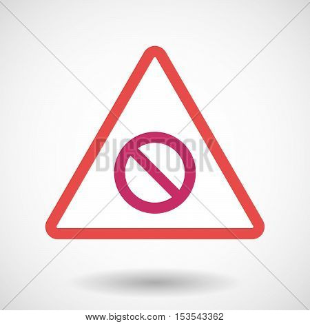Isolated Warning Sign Icon With  A Forbidden Sign